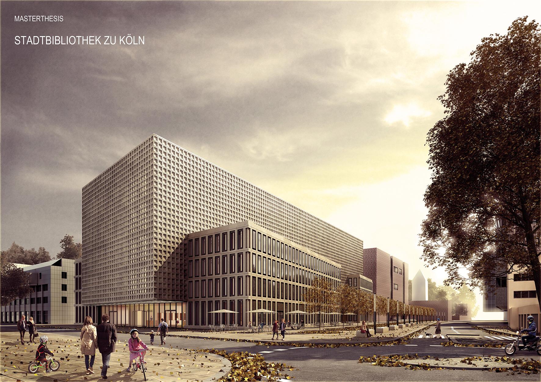 """Anerkennung: Taina Puyn (TU Dortmund) für """"Stadtbibliothek Köln"""", Foto: AKNW"""