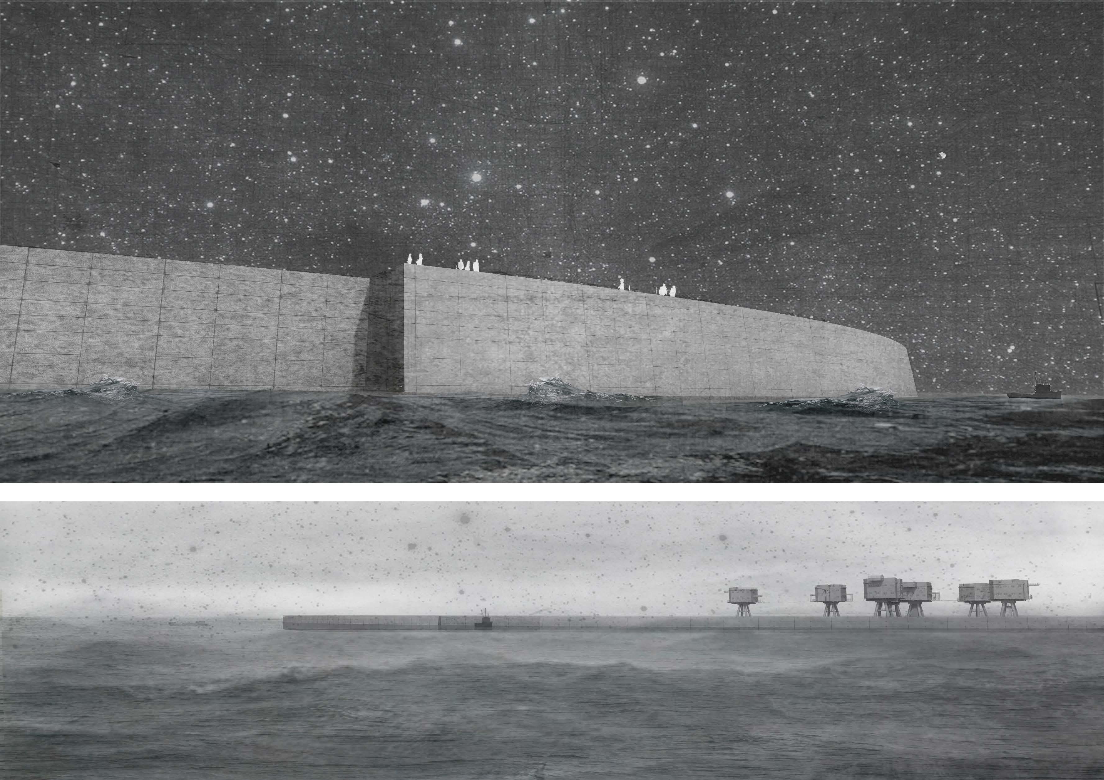 """Förderpreis: Virginia Clasen (Peter Behrens School of Arts, Düsseldorf) für """"Astronomy Center Redsand"""", Foto: AKNW"""