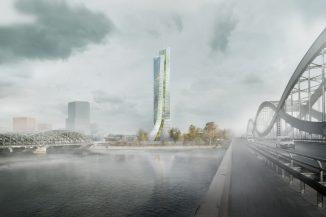 Blick von den Elbbrücken: So ähnlich könnte der neue Elbtower an den Elbbrücken aussehen. Bild: HafenCity GmbH