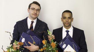 Preisträger des Kurt-Beyer-Preises Dipl.-Ing. Maximilian Kunze und Dipl.-Ing. Alexander Schumann, Foto: Sven Hofmann