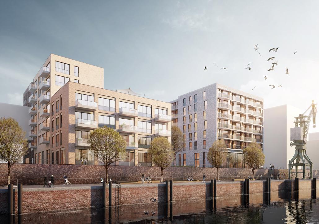Architekturwettbewerb am Baakenhafen entschieden, Visualisierung: moka-studio
