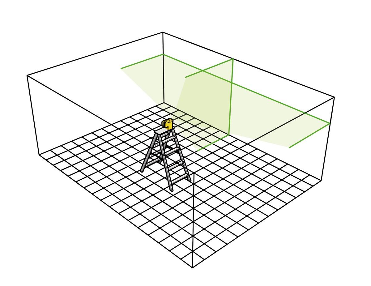 Optimale Sichtbarkeit – gestochen scharfe Laserlinien auf jedem Untergrund. (c) Stabila