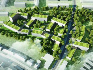 Wohnen am Spannskamp: Vogelperspektive ©Renner Hainke Wirth Architekten GmbH