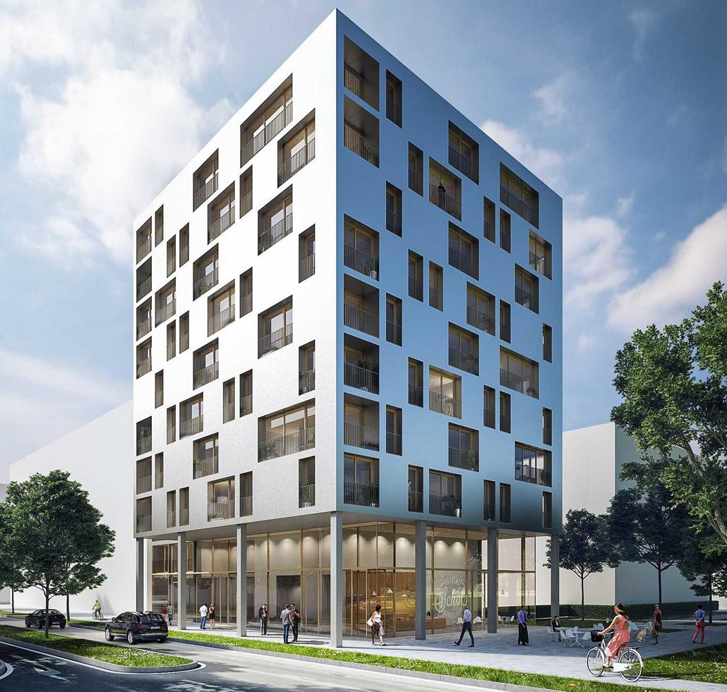 Holzhochhaus Skaio Heilbronn (c) Architektur: Kaden+Lager, Visualisierungen: THIRD