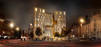Visualisierung Hotel Königshof München (c) NIETO SOBEJANO ARQUITECTOS