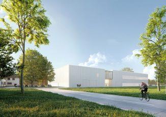 Unreife Produktionsprozesse in neuer Geschwindigkeit serienreif machen – das ist das Programm der im Bau befindlichen Karlsruher Forschungsfabrik. (Abb.: KIT)