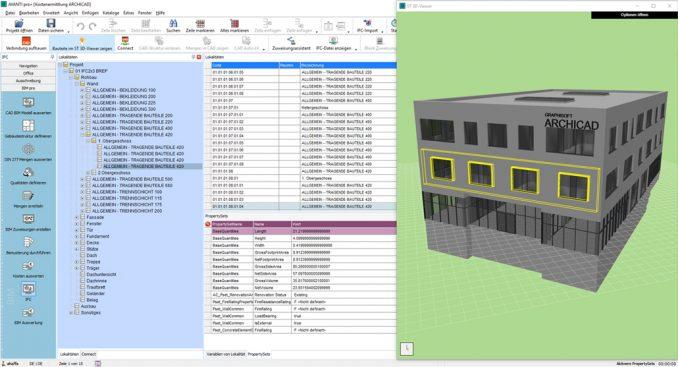 AVANTI 2019 openBIM funktioniert IFC Import-aus Graphisoft ArchiCAD (c) Softtech