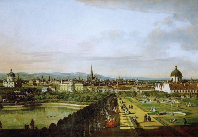 Bernardo Bellotto, il Canaletto_Wien, vom Belvedere aus gesehen_1758-63 © Museumverband KHM Wien