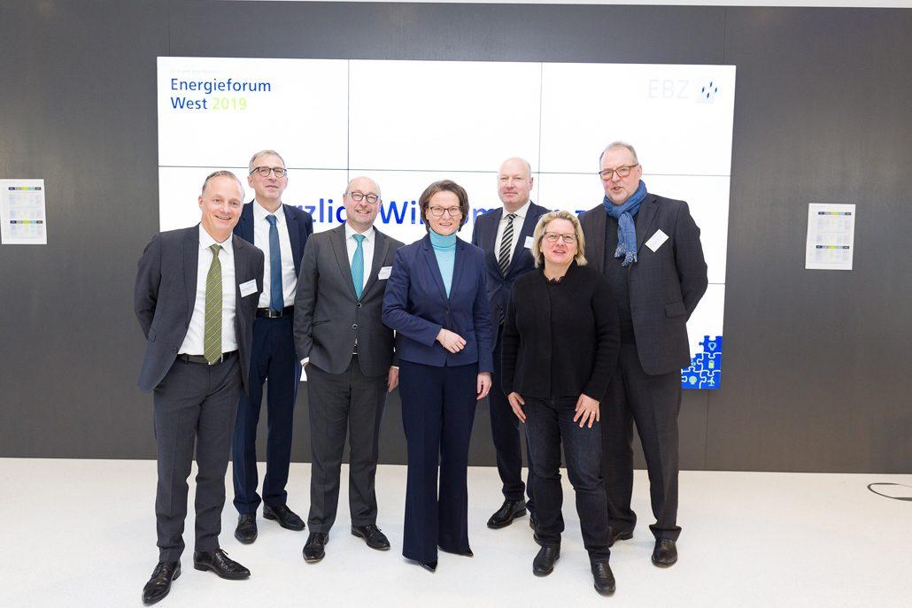 Energieforum West 2019. Teilnehmer der Plenumsdiskussion (c) EBZ