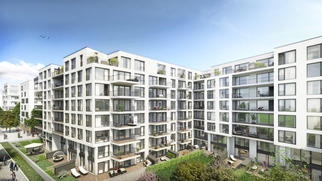 Visualisierung Stuttgart City Prag (c) Instone Real Estate.