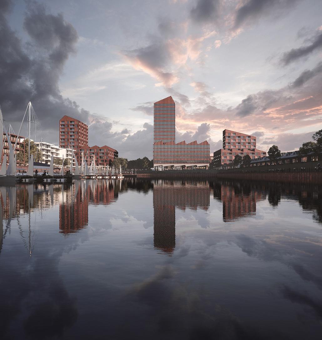 Europahafen. Visualisierungen: COBE Architects