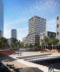 Kubatur des künftigen Vattenfall-Sitzes in der HafenCity. Bildrechte: EDGE Technologies/ Xoio