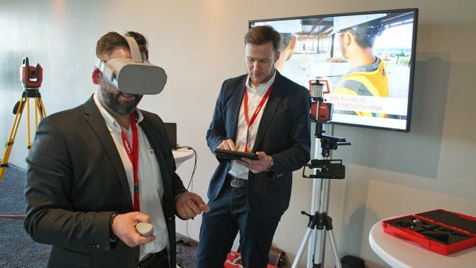 BIM-to-Field mit der Virtual Reality Brille erleben. (c) Hilti Deutschland AG