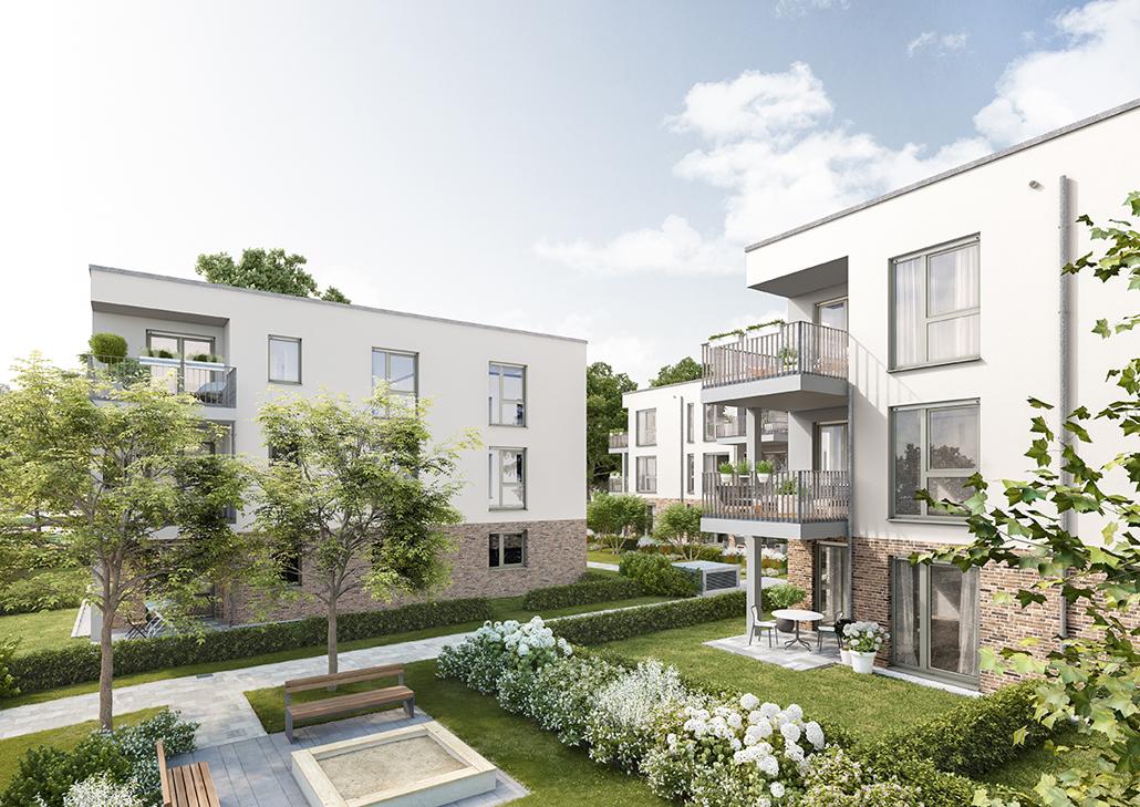 Insgesamt entstehen Am Parkfeld 6 30 Eigentumswohnungen. (c) PROJECT Immobilien
