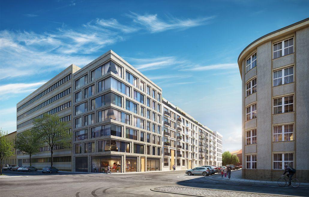 EMBASSY: Abwechslungsreiche Architektur für Berlins Mitte. (c) ADAM Europe
