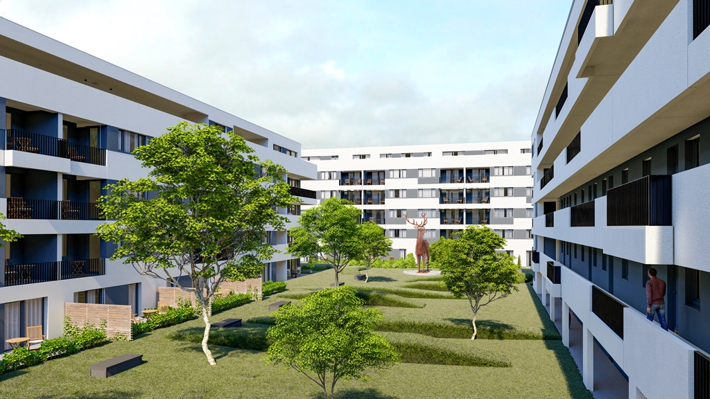 Visualisierungen Hirschquartier. Quelle: Mascher & Zink Immobilienmarketing