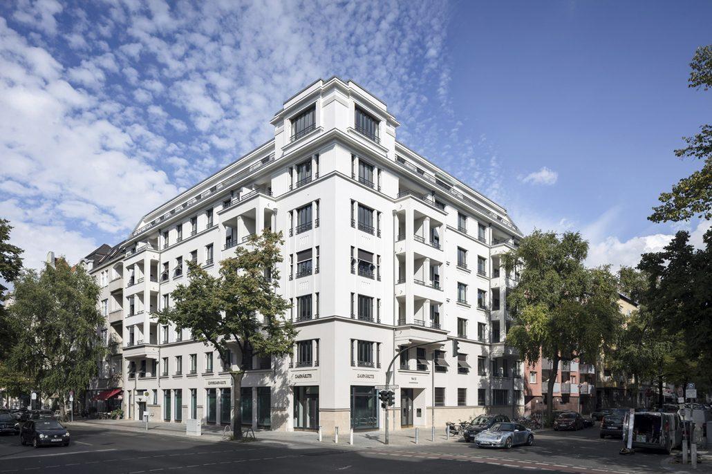 Patzschke-Neubauprojekt in Berlin, Mommsenstraße 15/Leibnizstraße, Außen. Bild: Markus Löffelhardt