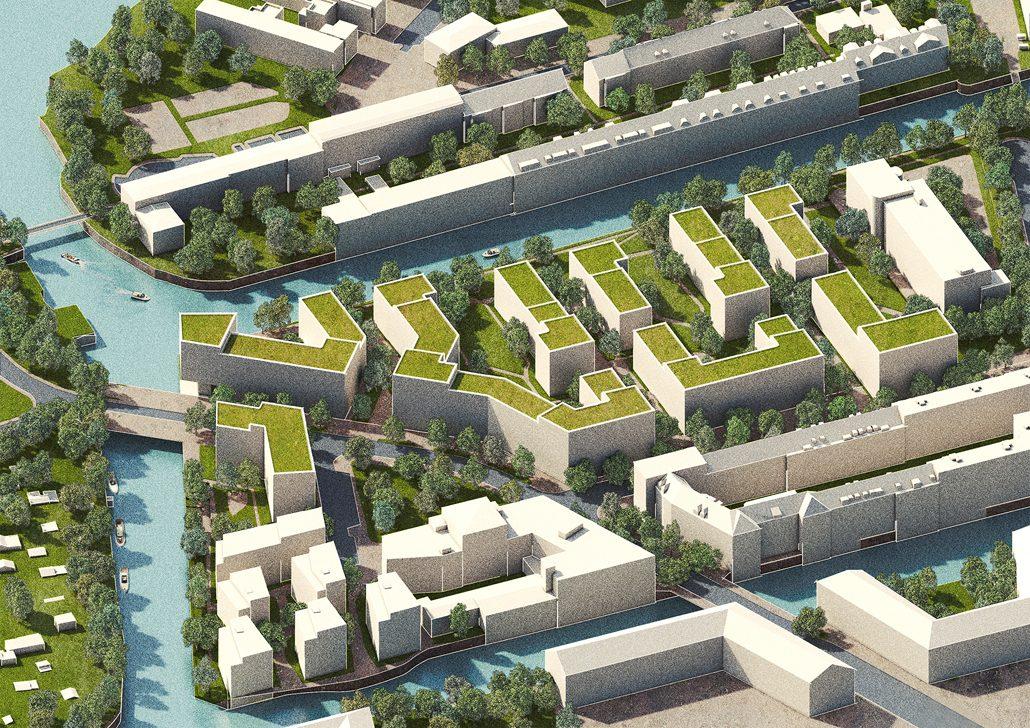 Osterbrookhöfe Perspektive Luftbild (c) zillerplus Architekten