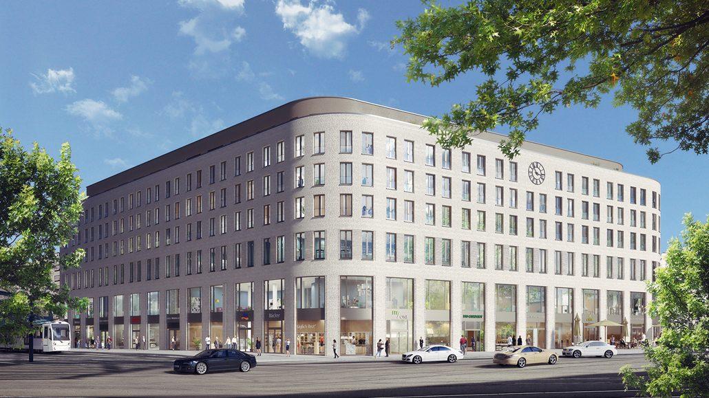 """Das """"Haus Postplatz"""" soll sich mit seiner zeitlosen Klinkerfassade harmonisch in das Innenstadtbild einfügen. Quelle: FAY Projects GmbH"""