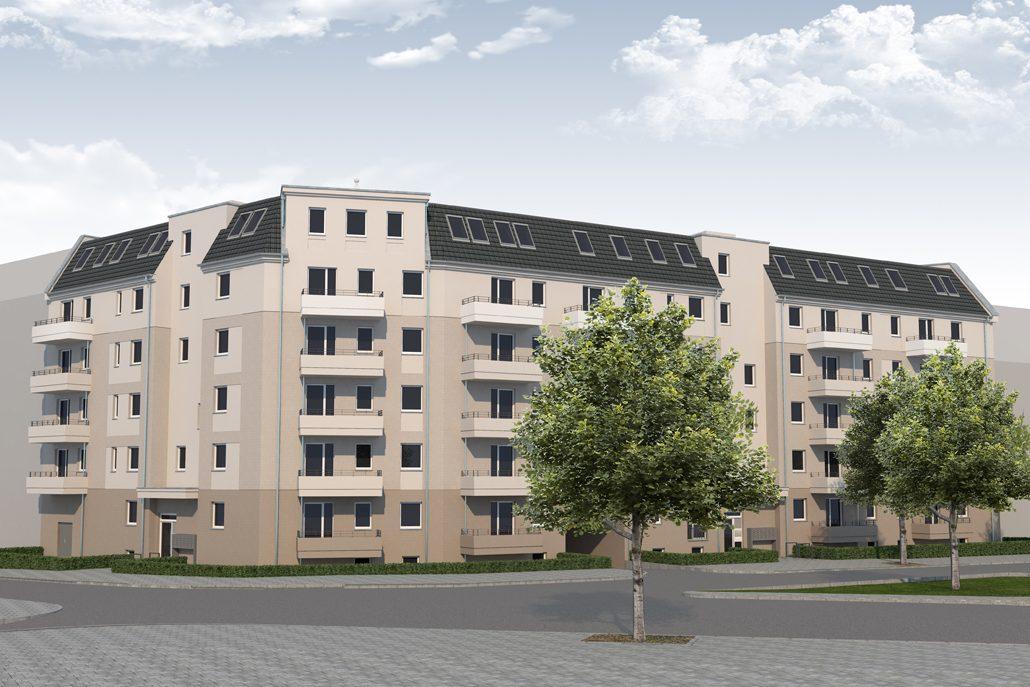 An der Rosenfelder Straße in Lichtenberg werden 64 neue Wohnungen errichtet. Bildrechte: (c) Kondor Wessels Planungsgesellschaft mbH