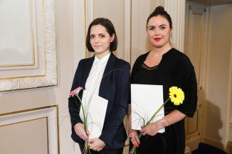 Die mit dem 1. Diesing-Preis ausgezeichneten Architekturstudentinnen der BTU Aleksandra Czaj (li.) und Kinga Krawczyk. Foto: Sebastian Semmler/AIV Berlin.