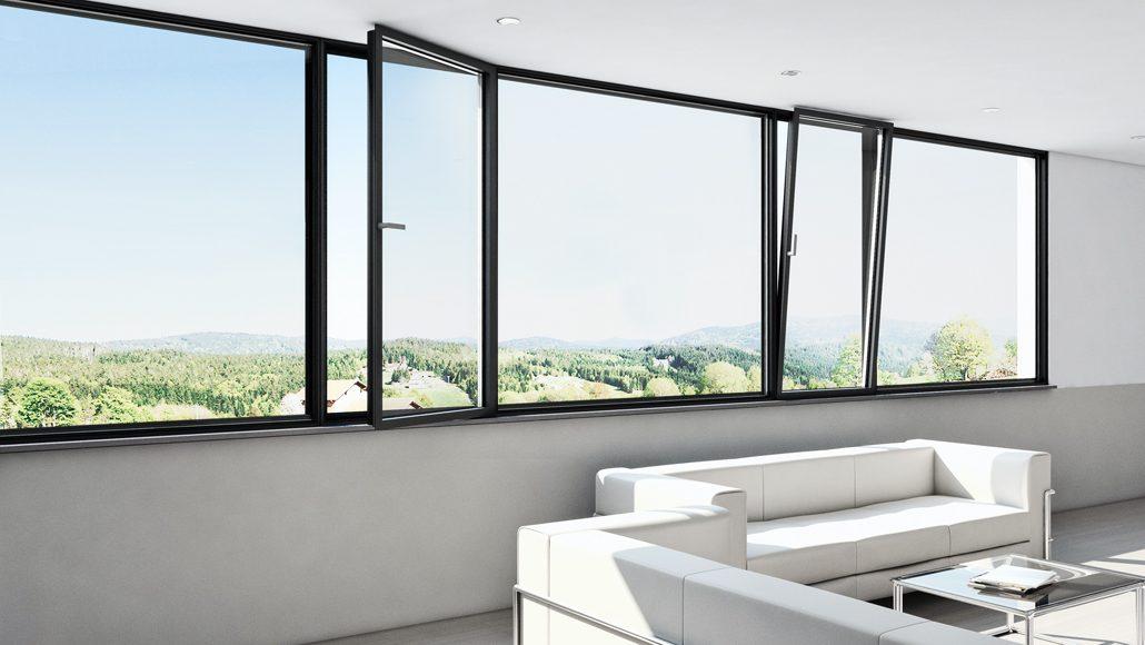 Ausgezeichnet mit dem iF Design Award 2019: Das Fenstersystem Schüco AWS 75 PD.SI. (c) Schüco International KG