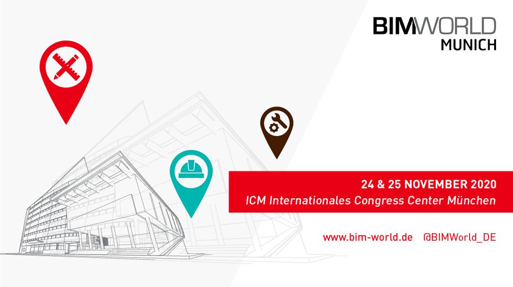 24. bis 25. November 2020   BIM World MUNICH mit hybridem Veranstaltungskonzept