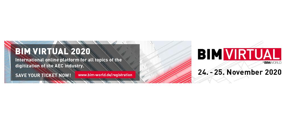 24. bis 25. November 2020 | BIM Virtual by BIM World MUNICH Online